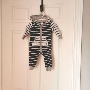 2/$25 Carter's fleece jumpsuit size 3 m